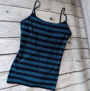 🆕NWT Express Striped Glitter Bra Tank, Blue